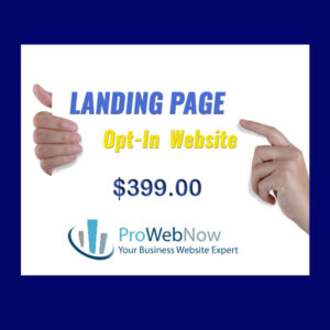 ProWebNow, Landing Page, Website Package